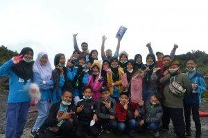 Kunjungan SMPN 1 Kalianda di Tangkuban Perahu