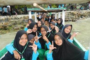 Kunjungan di Pasir Putih Lampung